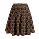 SCALES2 BLACK MARBLE & RUSTED METAL (R) High Waist Skirt View1