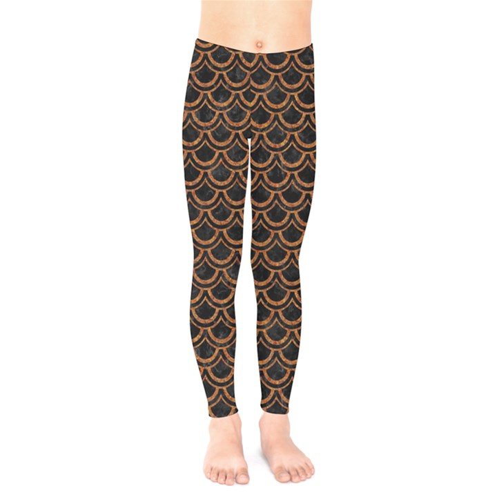 SCALES2 BLACK MARBLE & RUSTED METAL (R) Kids  Legging