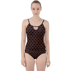Scales2 Black Marble & Rusted Metal (r) Cut Out Top Tankini Set