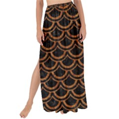 Scales2 Black Marble & Rusted Metal (r) Maxi Chiffon Tie Up Sarong