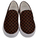 SCALES2 BLACK MARBLE & RUSTED METAL (R) Men s Canvas Slip Ons View1