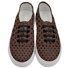 Scales2 Black Marble & Rusted Metal (r) Women s Classic Low Top Sneakers