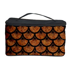Scales3 Black Marble & Rusted Metal Cosmetic Storage Case
