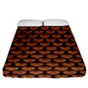 SCALES3 BLACK MARBLE & RUSTED METAL Fitted Sheet (Queen Size) View1