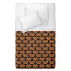 Scales3 Black Marble & Rusted Metal Duvet Cover (single Size)