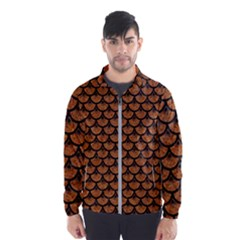 Scales3 Black Marble & Rusted Metal Wind Breaker (men)