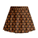 SCALES3 BLACK MARBLE & RUSTED METAL Mini Flare Skirt View1