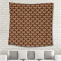 SCALES3 BLACK MARBLE & RUSTED METAL Square Tapestry (Large) View2