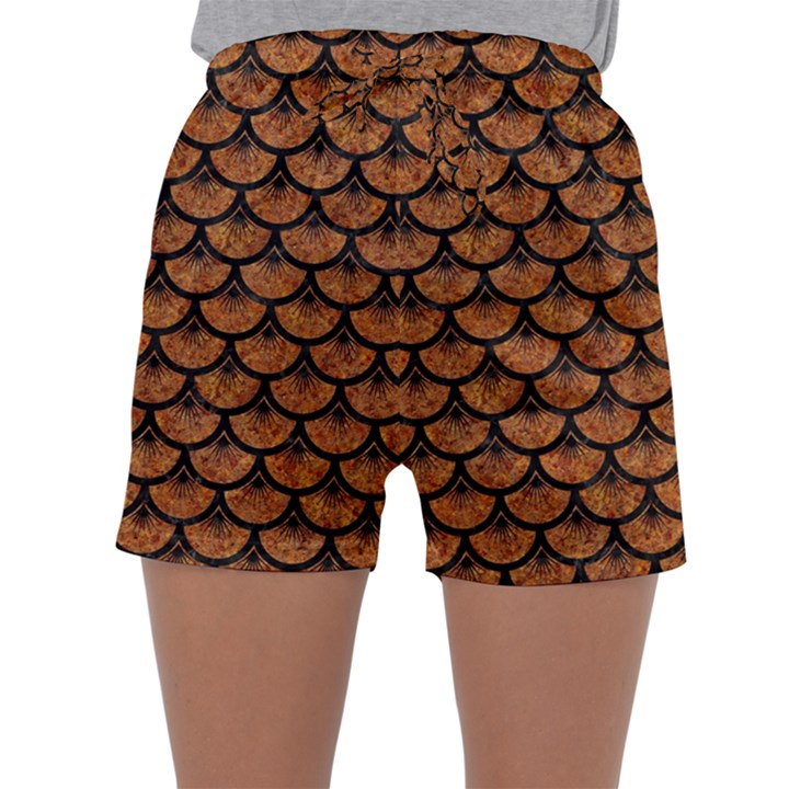 SCALES3 BLACK MARBLE & RUSTED METAL Sleepwear Shorts