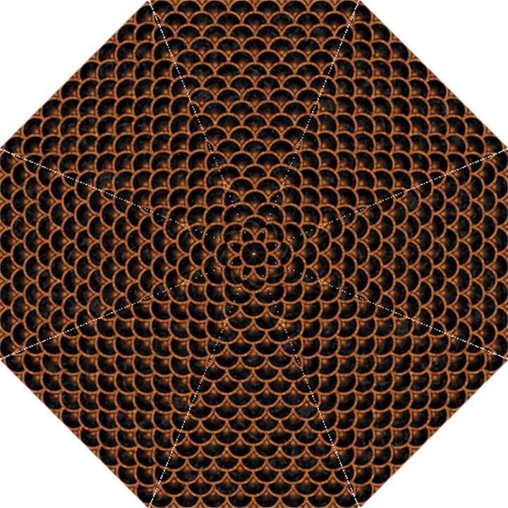 SCALES3 BLACK MARBLE & RUSTED METAL (R) Hook Handle Umbrellas (Medium)