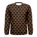 SCALES3 BLACK MARBLE & RUSTED METAL (R) Men s Long Sleeve Tee View1
