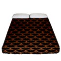 SCALES3 BLACK MARBLE & RUSTED METAL (R) Fitted Sheet (California King Size) View1