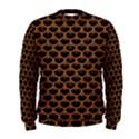 SCALES3 BLACK MARBLE & RUSTED METAL (R) Men s Sweatshirt View1