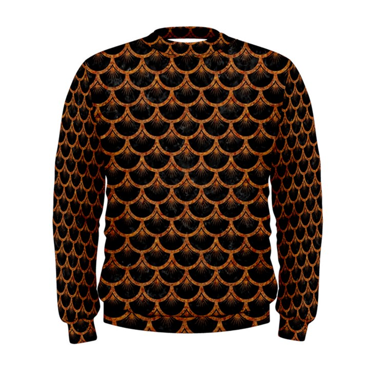 SCALES3 BLACK MARBLE & RUSTED METAL (R) Men s Sweatshirt