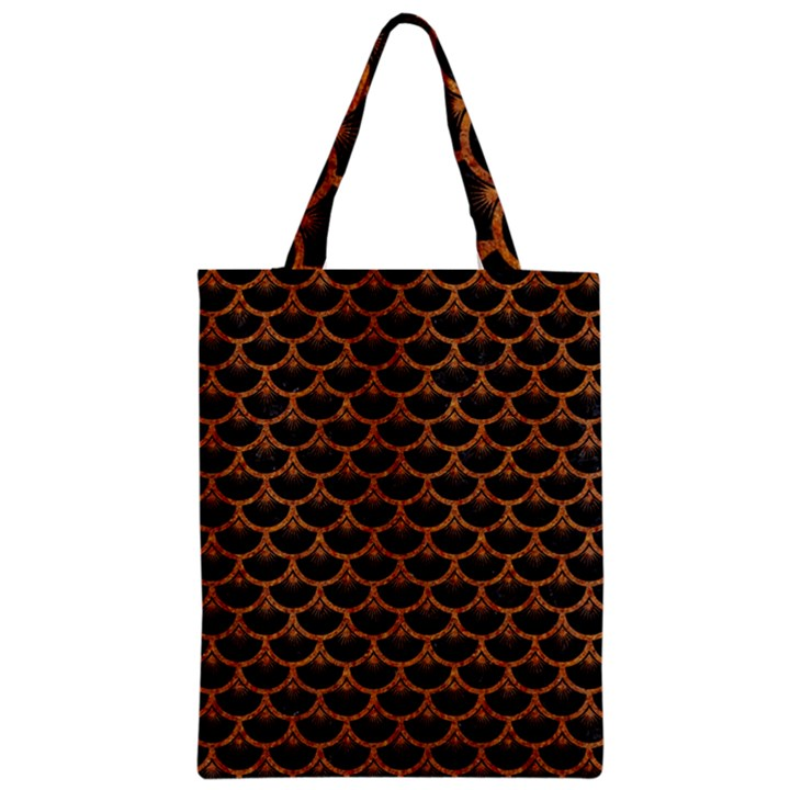 SCALES3 BLACK MARBLE & RUSTED METAL (R) Zipper Classic Tote Bag