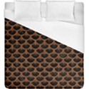 SCALES3 BLACK MARBLE & RUSTED METAL (R) Duvet Cover (King Size) View1