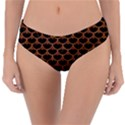 SCALES3 BLACK MARBLE & RUSTED METAL (R) Reversible Classic Bikini Bottoms View3