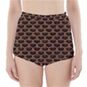 SCALES3 BLACK MARBLE & RUSTED METAL (R) High-Waisted Bikini Bottoms View1