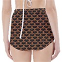 SCALES3 BLACK MARBLE & RUSTED METAL (R) High-Waisted Bikini Bottoms View2