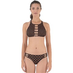 Scales3 Black Marble & Rusted Metal (r) Perfectly Cut Out Bikini Set
