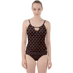 Scales3 Black Marble & Rusted Metal (r) Cut Out Top Tankini Set