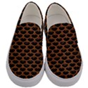 SCALES3 BLACK MARBLE & RUSTED METAL (R) Men s Canvas Slip Ons View1