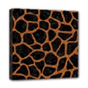 SKIN1 BLACK MARBLE & RUSTED METAL Mini Canvas 8  x 8  View1