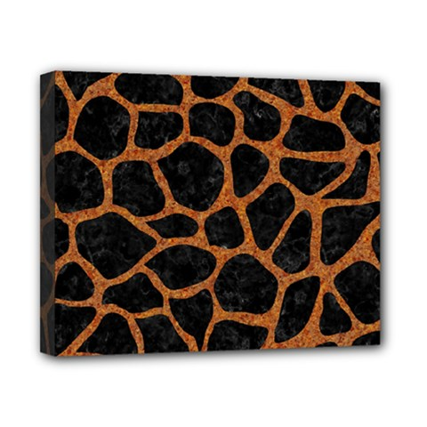 Skin1 Black Marble & Rusted Metal Canvas 10  X 8