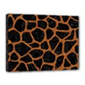 SKIN1 BLACK MARBLE & RUSTED METAL Canvas 16  x 12  View1