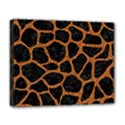 SKIN1 BLACK MARBLE & RUSTED METAL Deluxe Canvas 20  x 16   View1