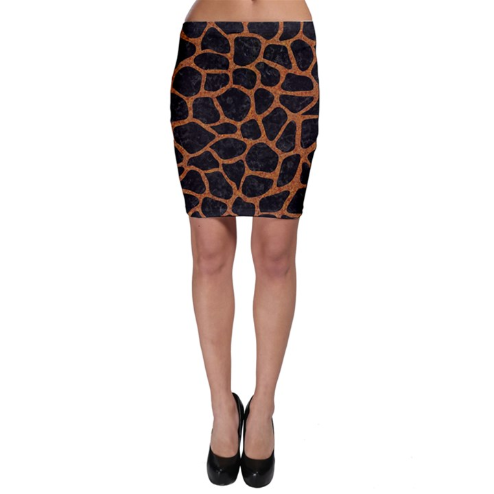 SKIN1 BLACK MARBLE & RUSTED METAL Bodycon Skirt