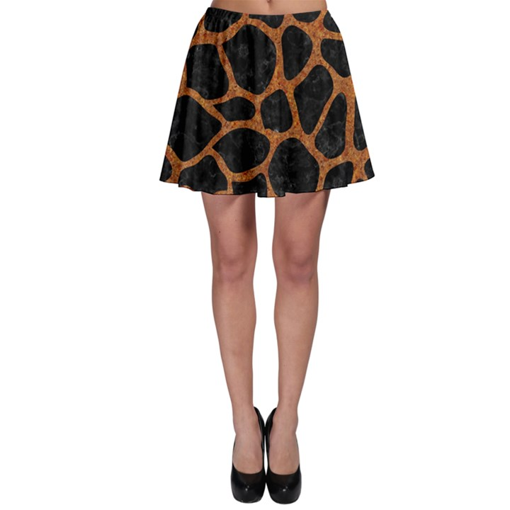 SKIN1 BLACK MARBLE & RUSTED METAL Skater Skirt