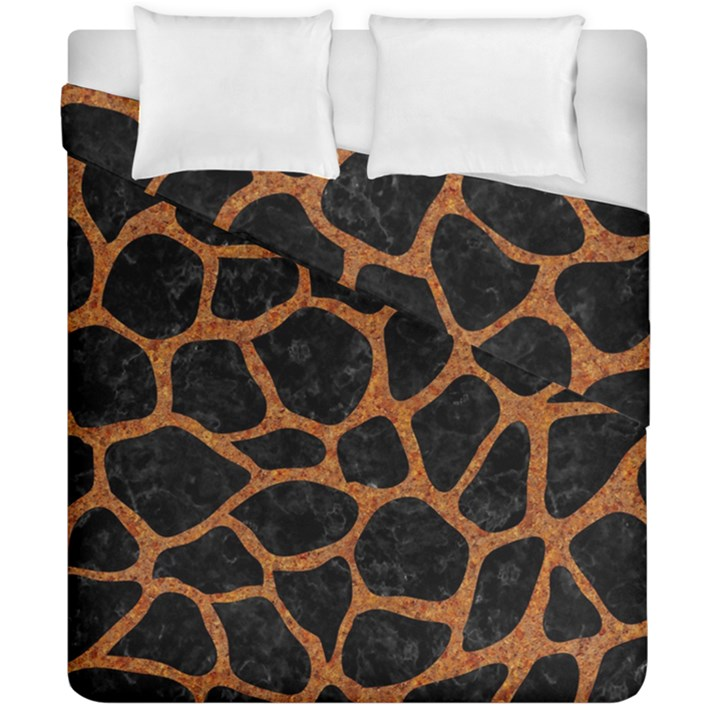 SKIN1 BLACK MARBLE & RUSTED METAL Duvet Cover Double Side (California King Size)
