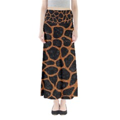 Skin1 Black Marble & Rusted Metal Full Length Maxi Skirt