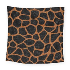 Skin1 Black Marble & Rusted Metal Square Tapestry (large)