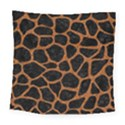 SKIN1 BLACK MARBLE & RUSTED METAL Square Tapestry (Large) View1