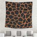 SKIN1 BLACK MARBLE & RUSTED METAL Square Tapestry (Large) View2