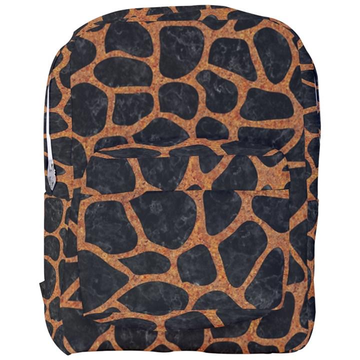 SKIN1 BLACK MARBLE & RUSTED METAL Full Print Backpack