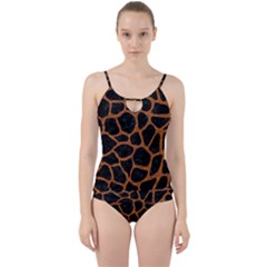 Skin1 Black Marble & Rusted Metal Cut Out Top Tankini Set