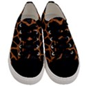 SKIN1 BLACK MARBLE & RUSTED METAL Men s Low Top Canvas Sneakers View1
