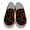 SKIN1 BLACK MARBLE & RUSTED METAL Women s Canvas Slip Ons View1