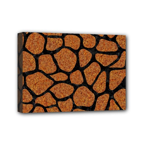Skin1 Black Marble & Rusted Metal (r) Mini Canvas 7  X 5
