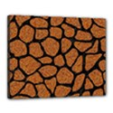 SKIN1 BLACK MARBLE & RUSTED METAL (R) Canvas 20  x 16  View1
