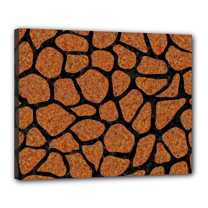 SKIN1 BLACK MARBLE & RUSTED METAL (R) Canvas 20  x 16