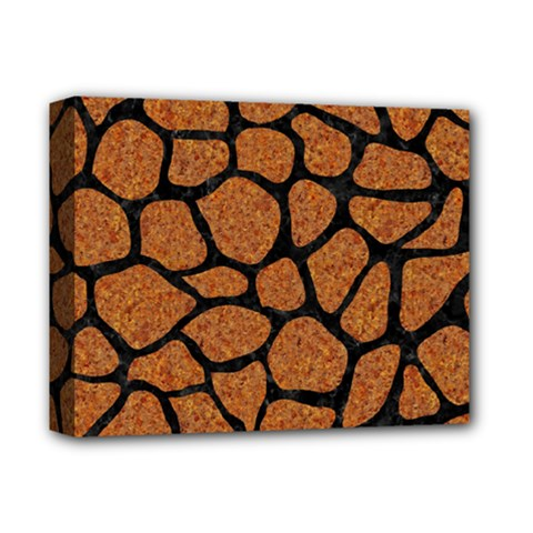 Skin1 Black Marble & Rusted Metal (r) Deluxe Canvas 14  X 11