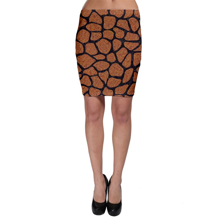 SKIN1 BLACK MARBLE & RUSTED METAL (R) Bodycon Skirt