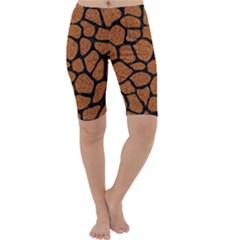 Skin1 Black Marble & Rusted Metal (r) Cropped Leggings