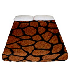 Skin1 Black Marble & Rusted Metal (r) Fitted Sheet (california King Size)