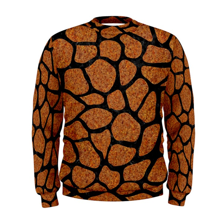 SKIN1 BLACK MARBLE & RUSTED METAL (R) Men s Sweatshirt