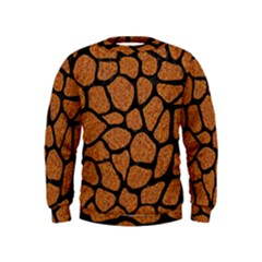 Skin1 Black Marble & Rusted Metal (r) Kids  Sweatshirt
